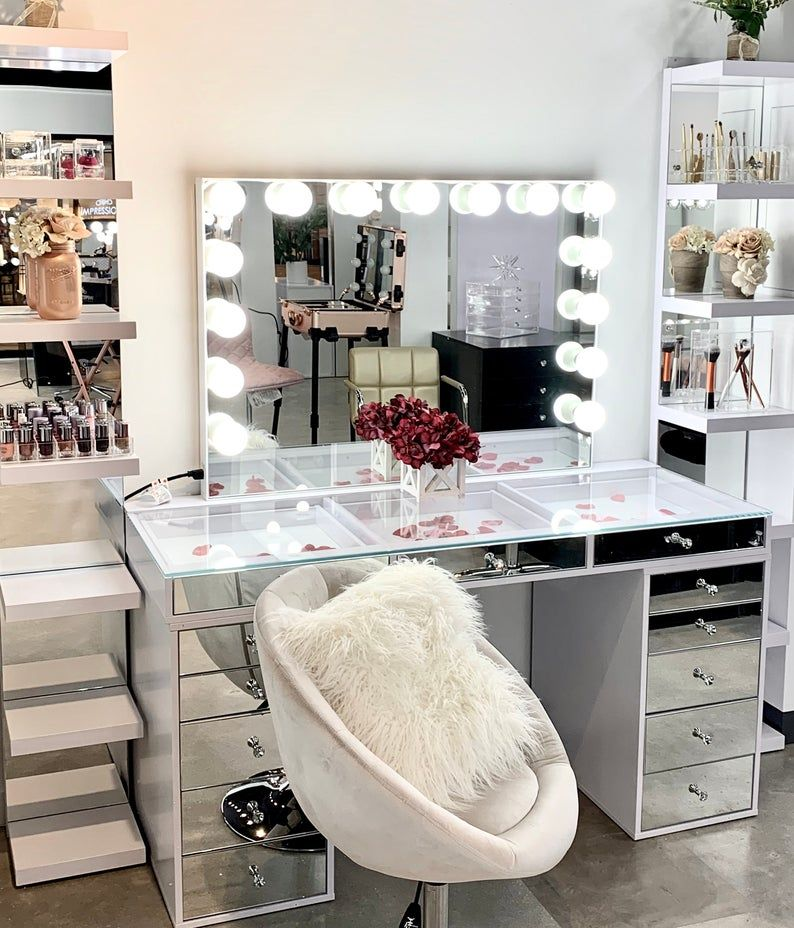 Makeup Vanity Mirror With Lights Impressions Glow Pro Etsy Bedroom Room