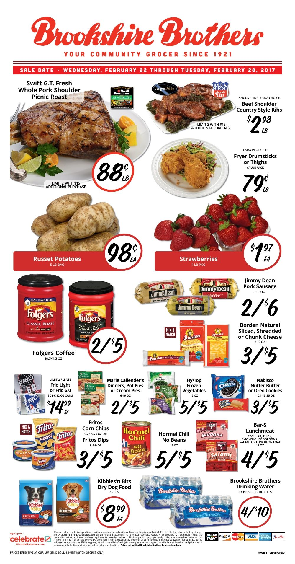 Brookshire Brothers Weekly Ad Http Www Myweeklyads Net Brookshire Brothers Brookshire Brothers Grocery Ads Pork Shoulder Picnic Roast