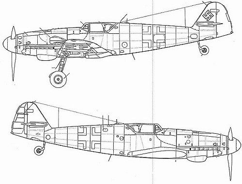 (For Aero Modelers) Messerschmitt Bf 109 G10 details (in english and japanese) 29