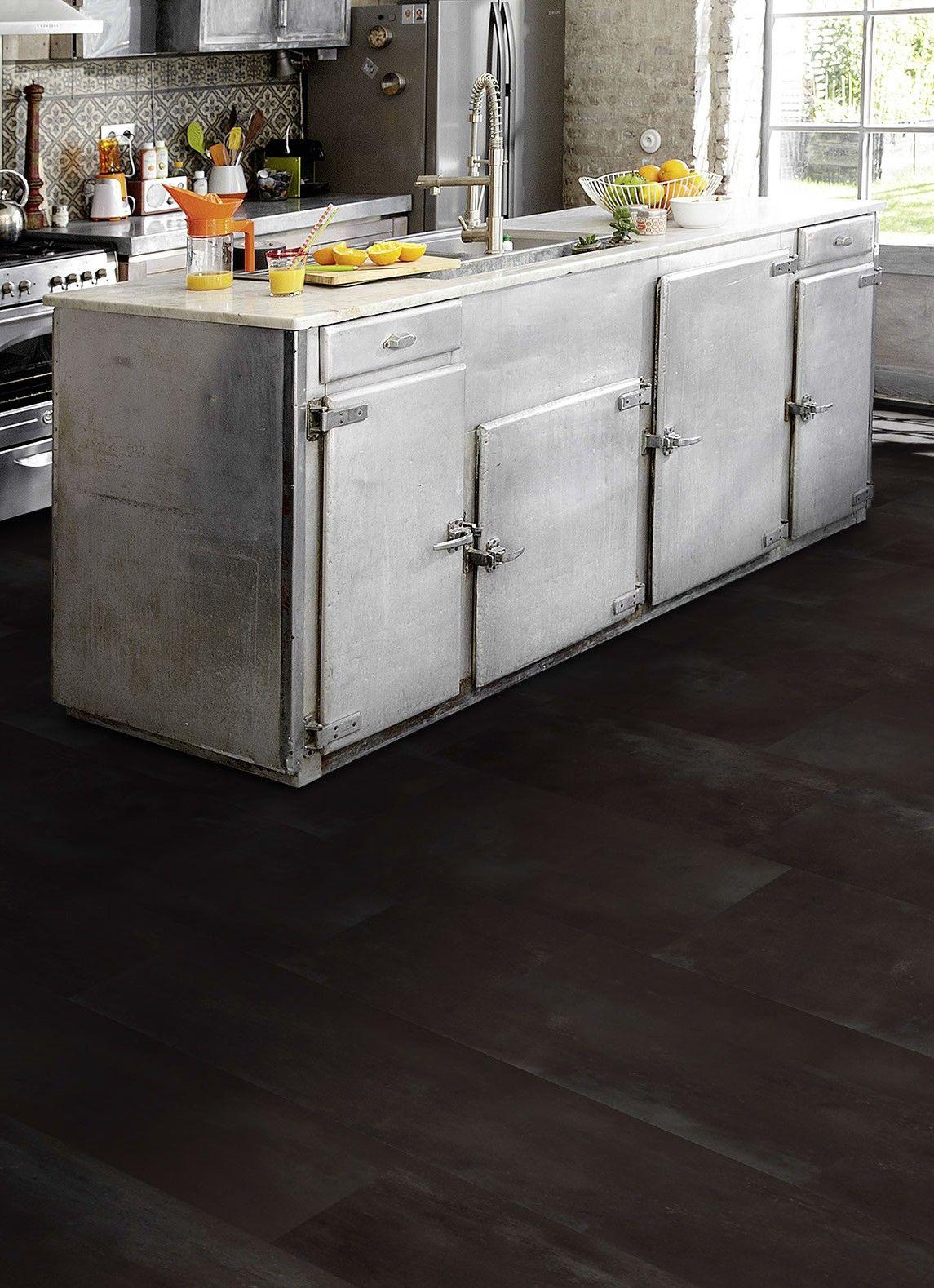 pvc vloer tegels betonlook geschikt voor alle ruimten zoals de