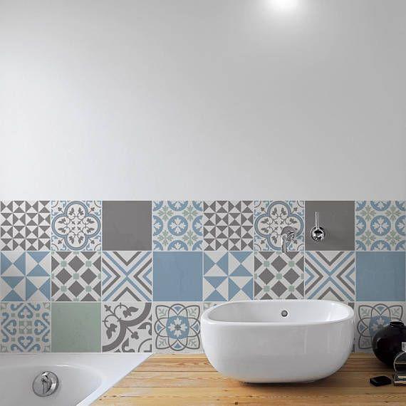 Badkamer Tegel Stickers : Mooie zwartwitte tegel stickers voor de badkamer t