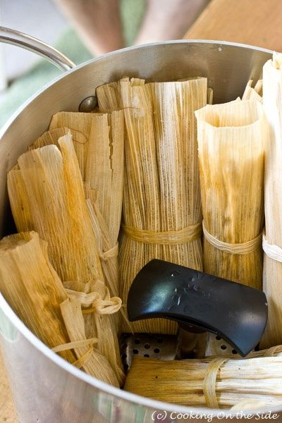 Tamales Real Tamales Made With Hand Picked Corn Husks Used To Make These All The Time Mexican Food Recipes Tamale Recipe Food Recipes