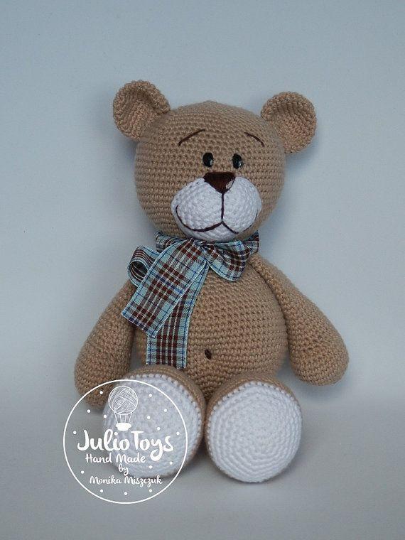 El Clasico teddy bear - crochet PDF pattern   Häkeltiere und Süß