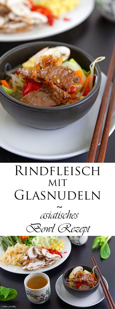 rindfleisch mit glasnudeln ein leckeres asiatisches bowl rezept rindfleisch w rzig und. Black Bedroom Furniture Sets. Home Design Ideas