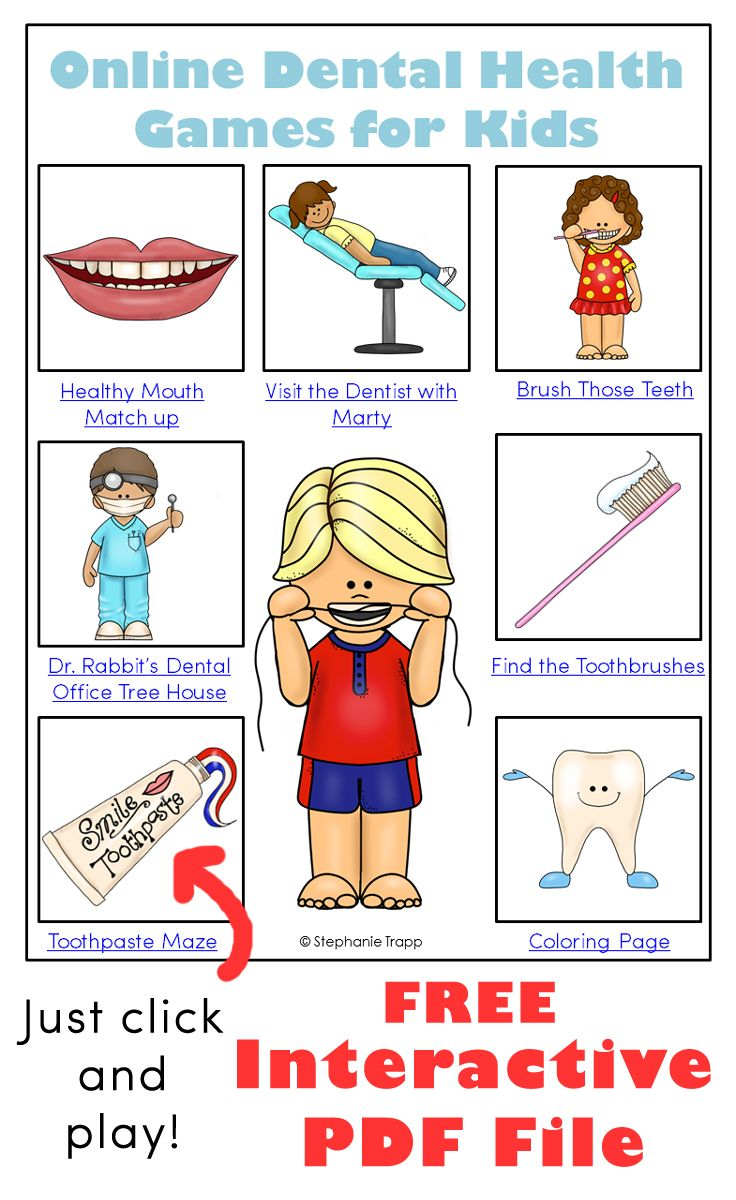 Free interactive pdf file with links to online dental