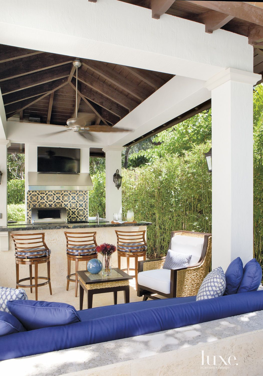 A Mediterranean Revival Home In Miami Beach Luxesource Luxe Magazine The Luxury Home Redefined Backyard Renovations Gazebo Outdoor Kitchen