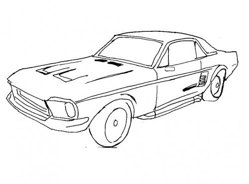 Racing Car Ford Mustang Coloring Page Cars Coloring Pages Old