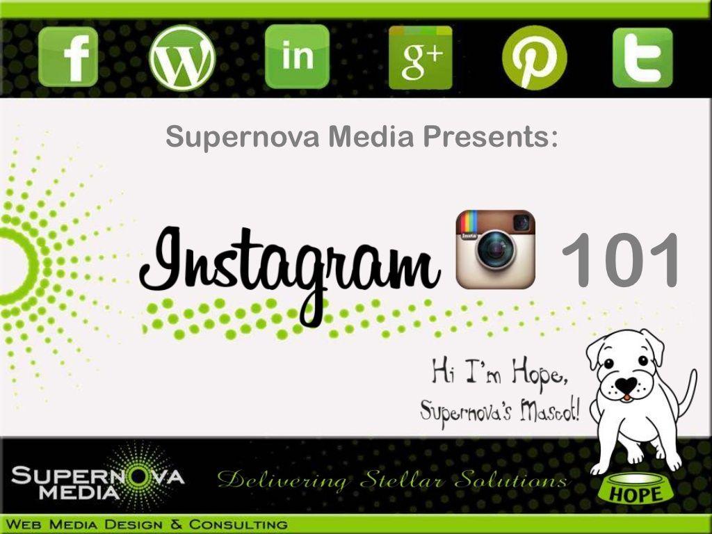Instagram for Facebook by SupernovaMedia.ca via slideshare