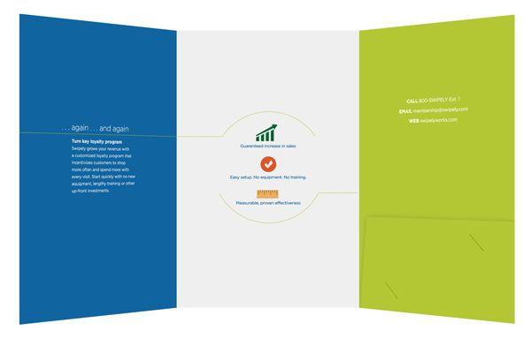 Swipely Small Tri-Fold Presentation Folder (Inside View) #layout - resume presentation folder