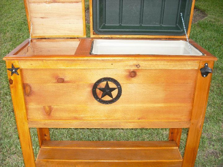 Wooden Ice Chest ~ Custom rustic woodworks wood coolers