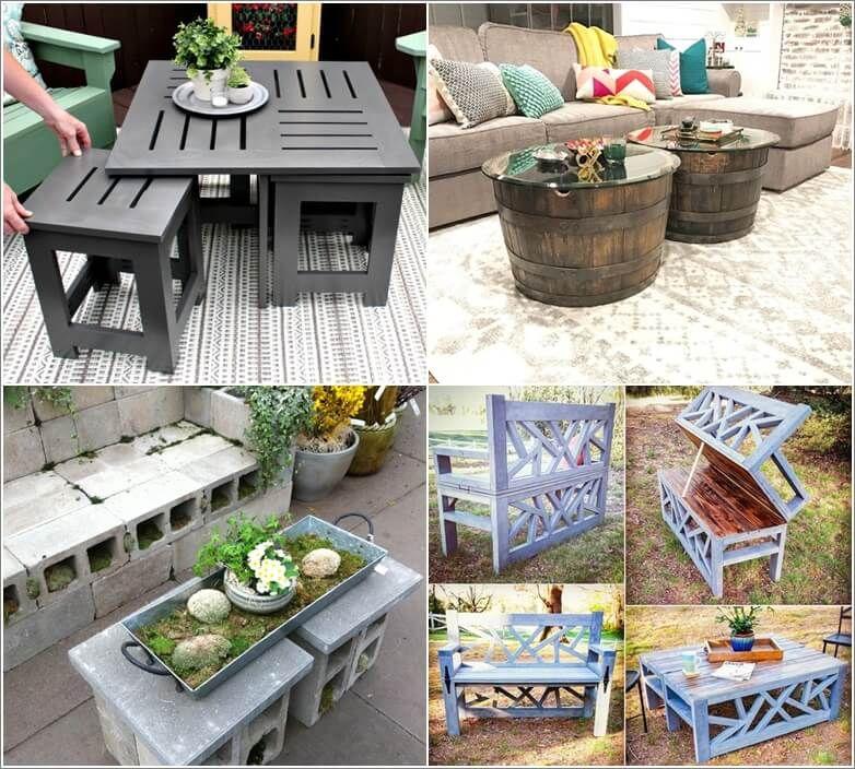 13 Diy Outdoor Coffee Table Ideas Diy Patio Table Outdoor