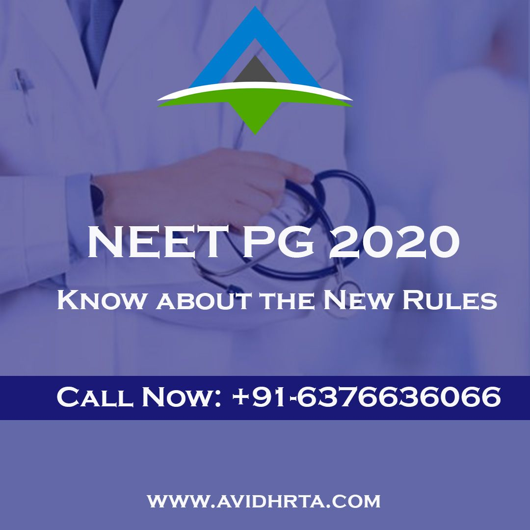 NEET PG 2020 Admit Card will be released on December 28