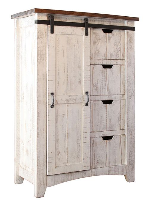 Puebla Rustic White Wash Chest Wood Bedroom Furniture Greenview