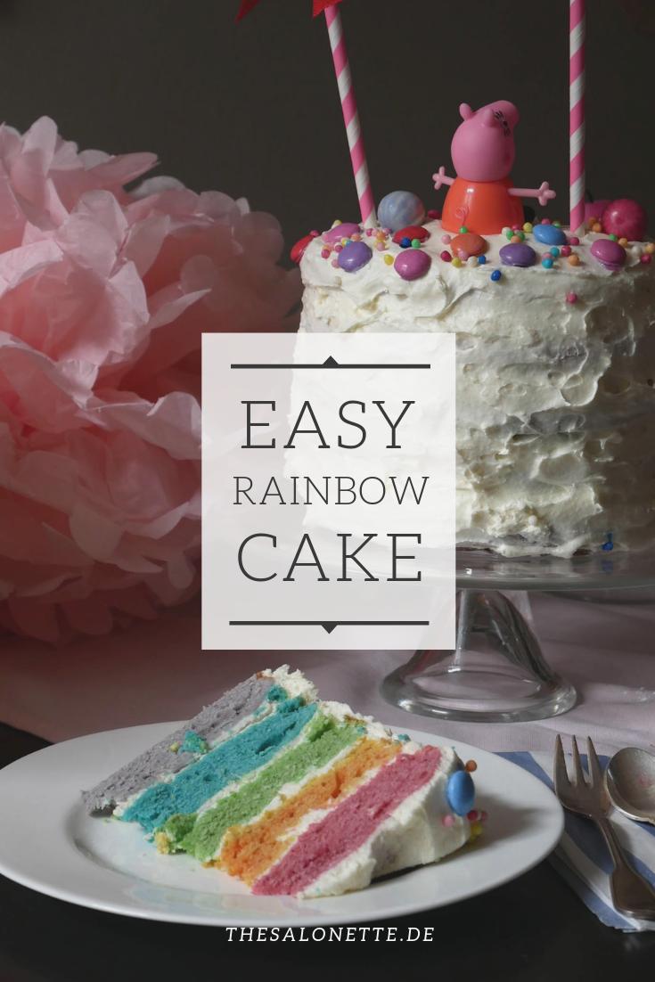 Jetzt Wird S Bunt Eine Marchenhafte Regenbogen Torte Regenbogentorte Kindergeburtstag Essen Lebensmittel Essen