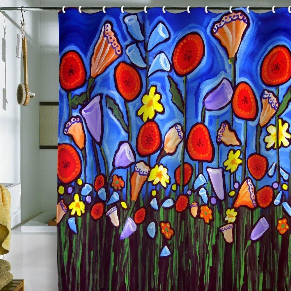 Fun Funky Flowers Shower Curtain Http Topdesignset Com Fun