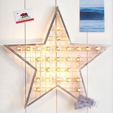 Star Marquee Wall Light #potterybarnteen