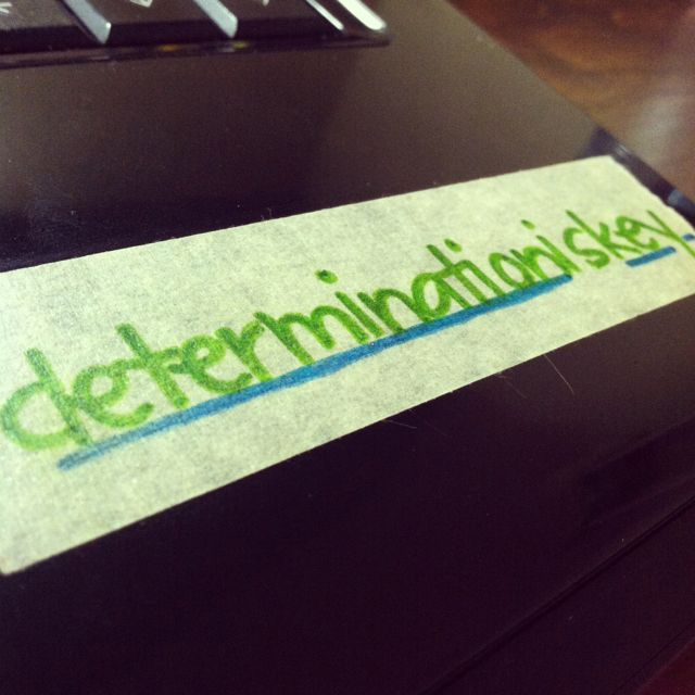 """Determination shows drive, passion, heart, and gives a person their unique character. If I want it, d""""etermination is key""""!"""