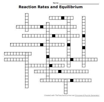 Chapter 18 Reaction Rates And Equilibrium Worksheet ...