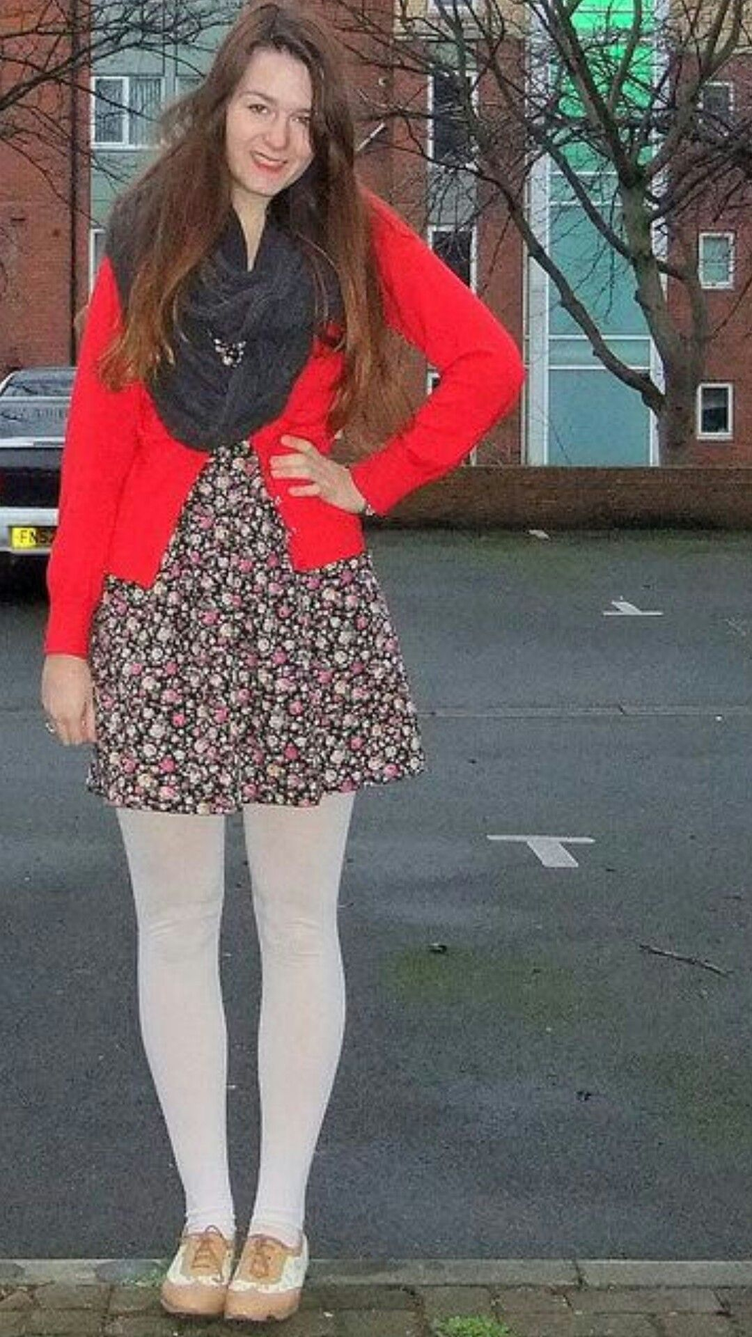 Red Cardigan Image By Colorful Mess