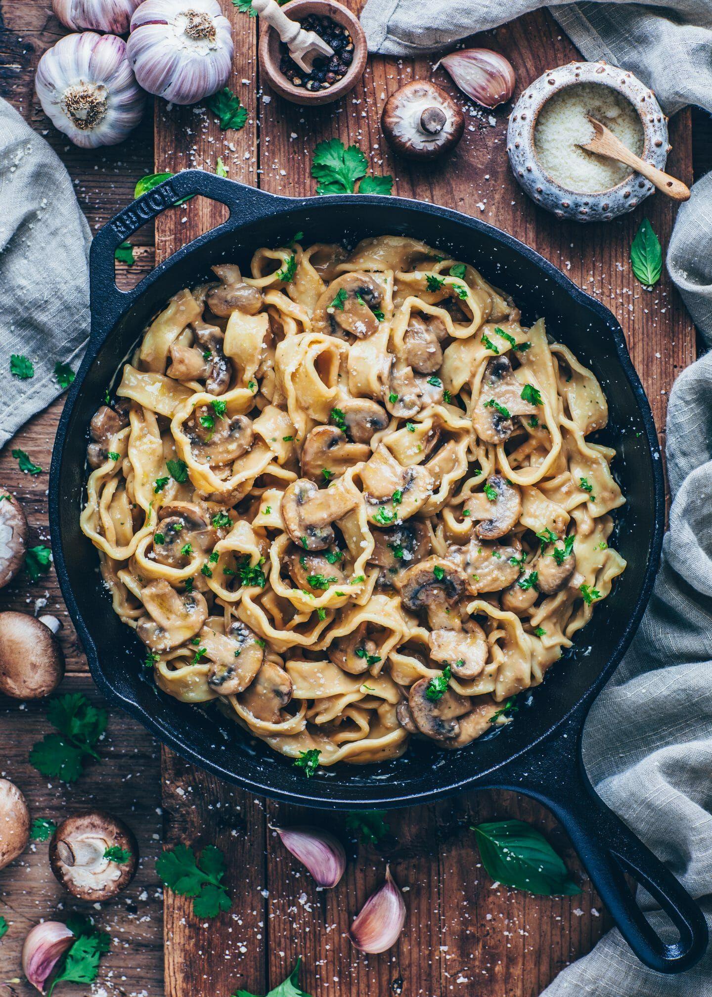 Photo of Cremige Champignon-Sauce mit Pasta | Stroganoff – Bianca Zapatka | Rezepte