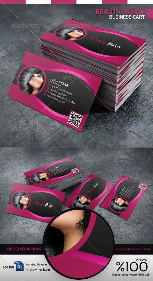 Beauty Salon - Business Card | Pinterest | Business cards, Business ...