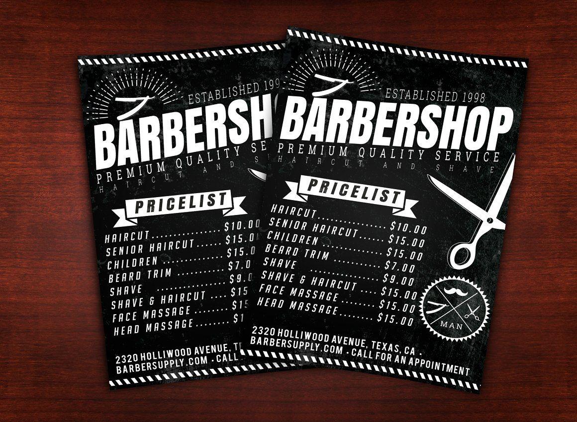 Barber shop flyer barber shop design