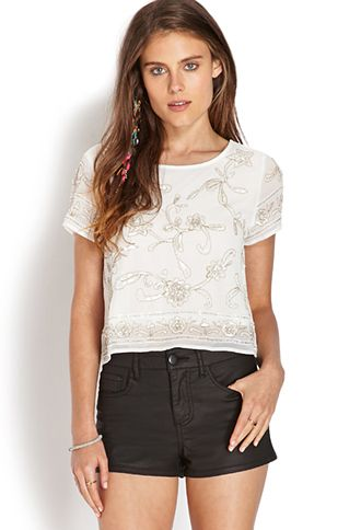 Dainty Beaded Top | FOREVER21 - 2000071032