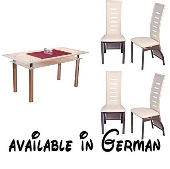 B011W8T7TS : moebel direkt online Tischgruppe 5tlg.: 1 Esstisch ...