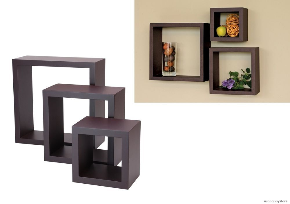 Details About 3pc Wall Cube Display Shelf Set Harbortown Square