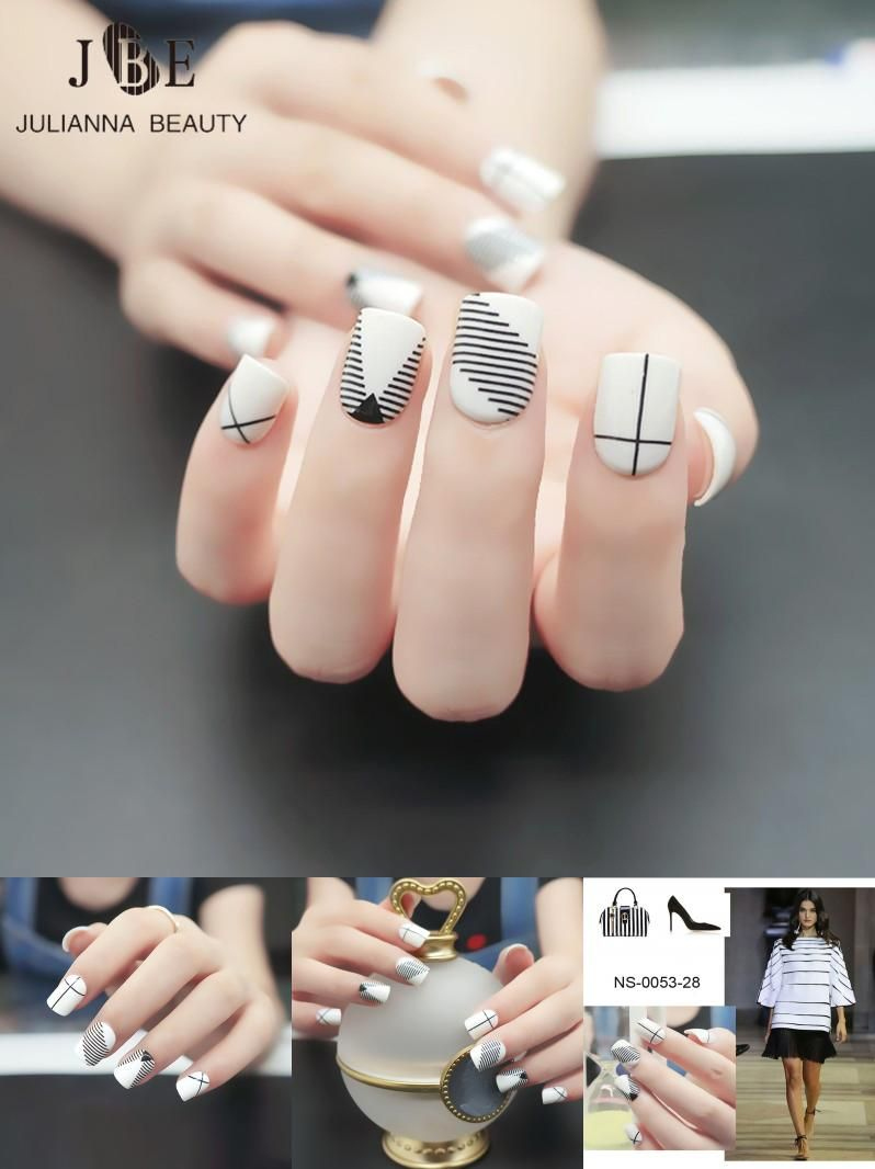 Visit to Buy] 24pcs Fashion Fake Nail Tips For Child Pre Designed ...