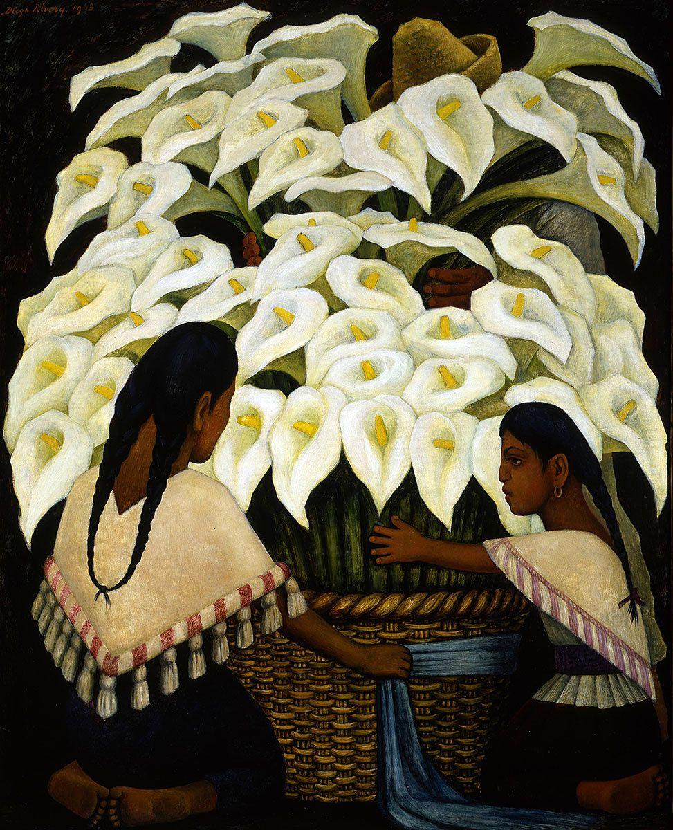 Diego Rivera El Vendedor de Alcatraces Framed Art Print