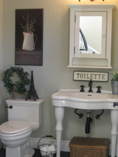 Country Half Bath Ideas