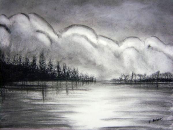 Summer Dreams Charcoal Drawing Charcoal Art Cool Landscapes