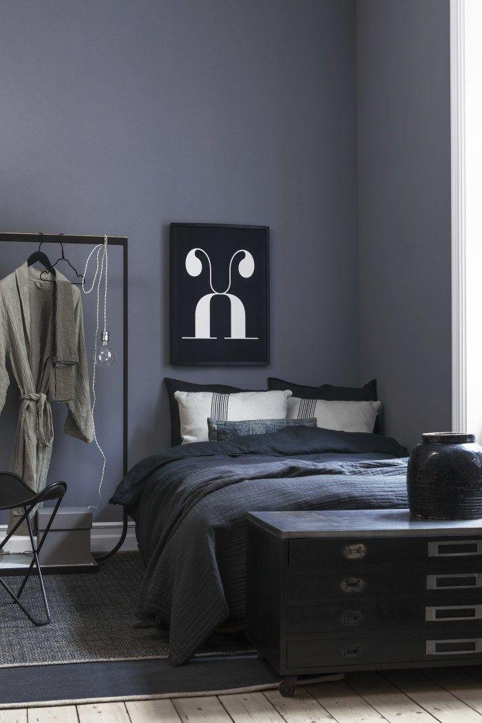 blå grå væg