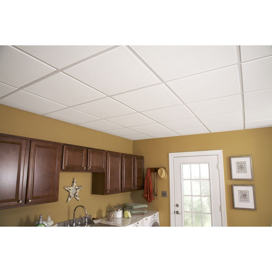 Shop armstrong oasis homestyle 16 pack white 1516 in drop shop armstrong oasis homestyle white smooth drop acoustic panel ceiling tiles common x actual dailygadgetfo Gallery