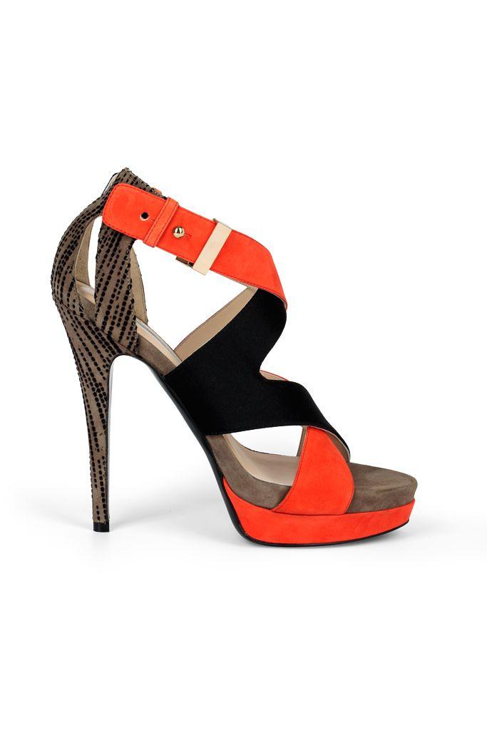 fall 2012, Burak Uyan, shoes, high heels, platforms, black, brown, orange