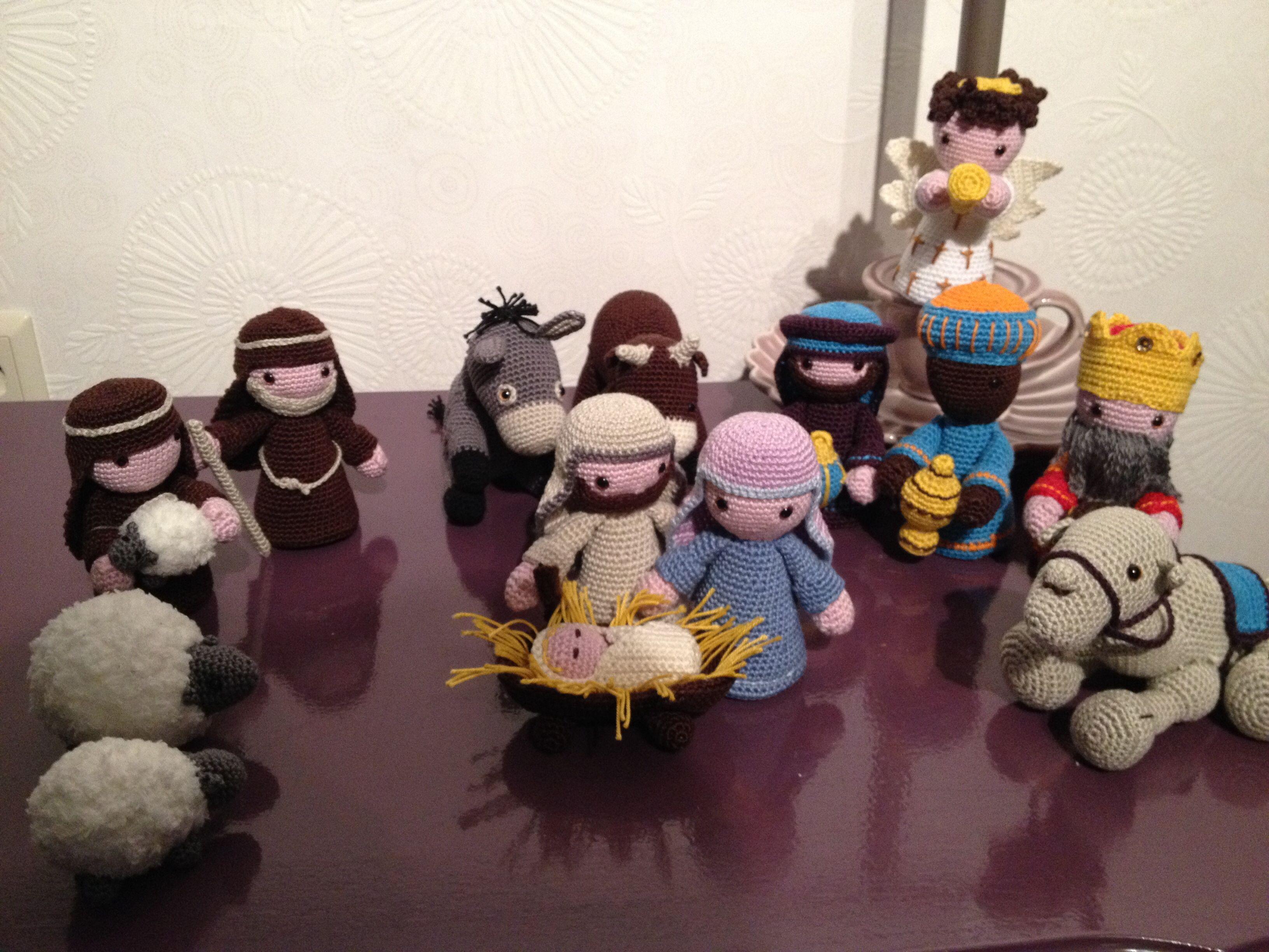 Kerststal Uit Boek Van Christel Krukkert Hand Puppets Crochet
