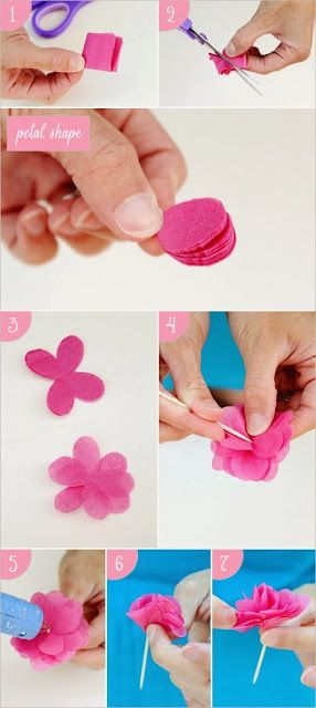 Diy Tissue Paper Flower Steps Party Diy Diy Tissue Paper