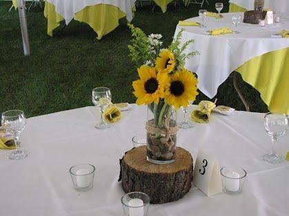 DIY Sunflower Centerpieces