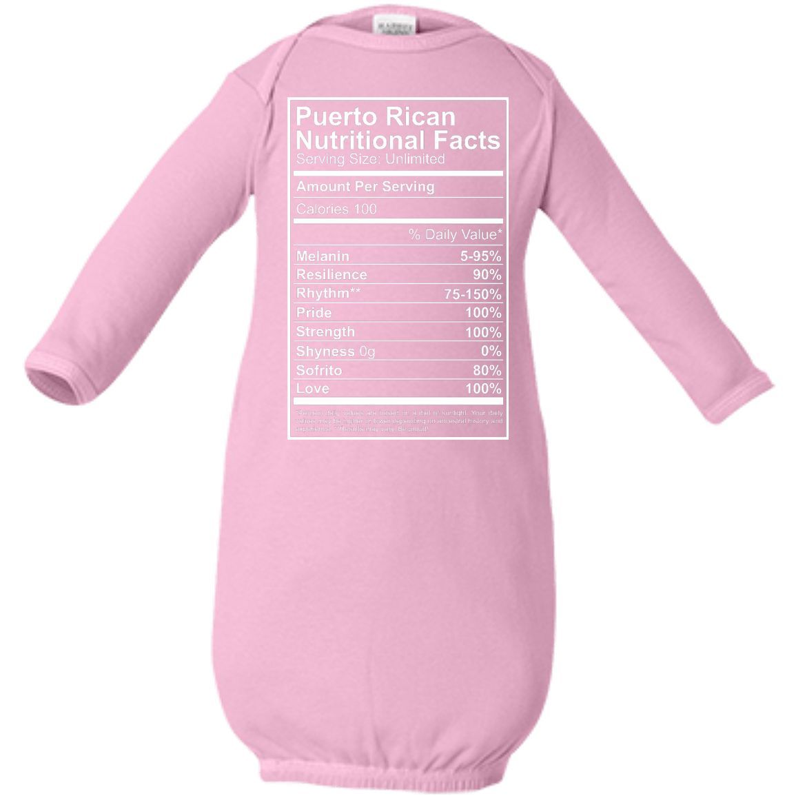 Nutritional Facts - Infant Layette
