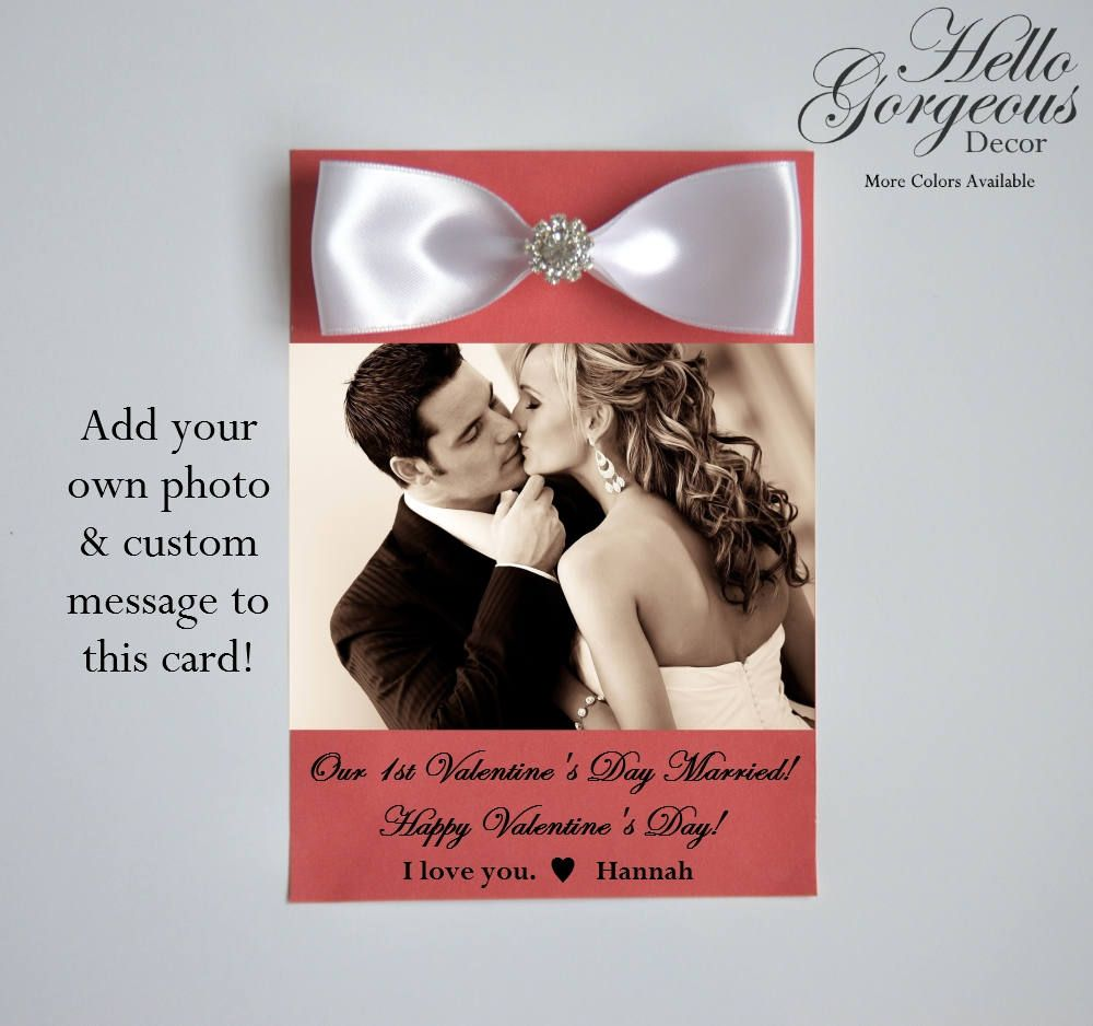 First Valentines Day Married Card To Husband Wife Add Your Own