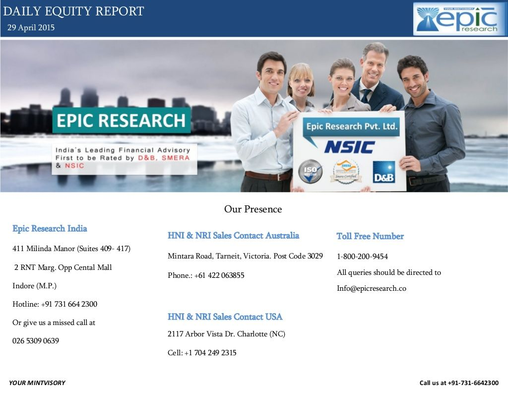 Epic research daily equity report of 29 april 2015 by Epic Research Private Limited via slideshare