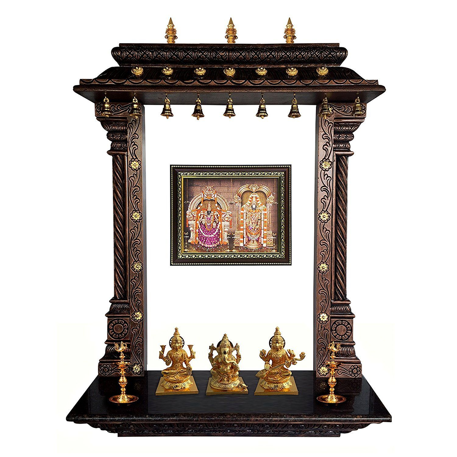 MANTRA Wall Mounting Pooja Temple / Mandir / Mandapa / Mandapam With ...