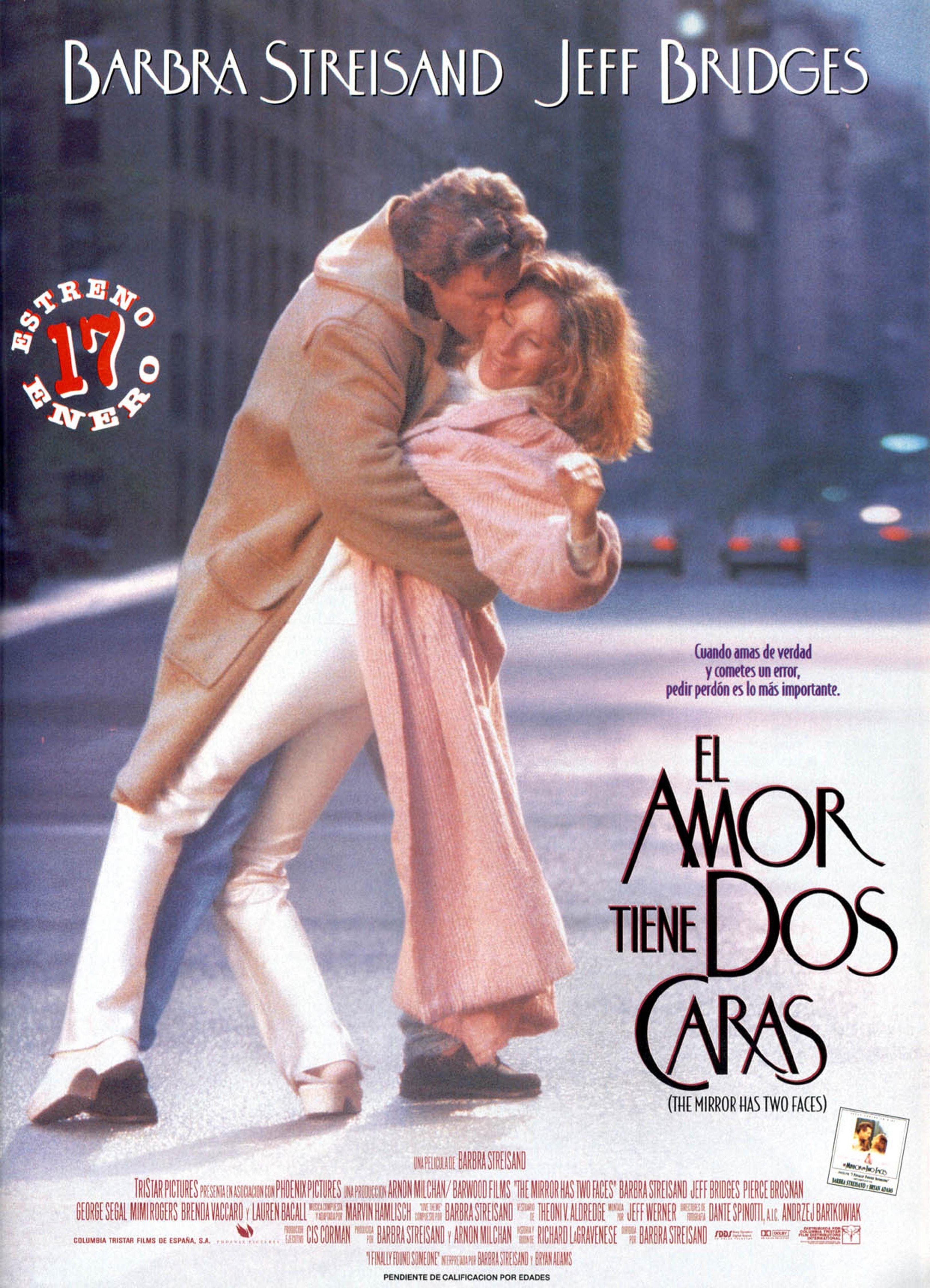 Una Pagina De Cine 1996 The Mirror Has Two Faces El Amor Tiene Dos Caras Esp 01 Jpg Peliculas De Amor Dos Caras Cine