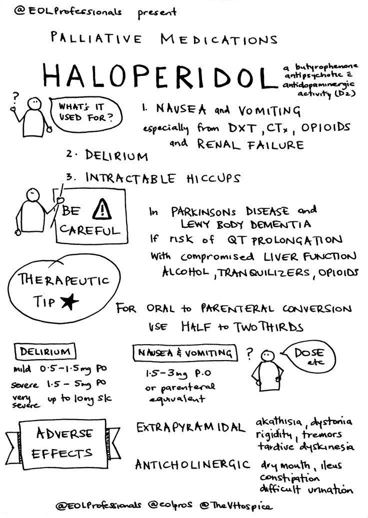 Haloperidol Sketchnote  Nursing     Psych