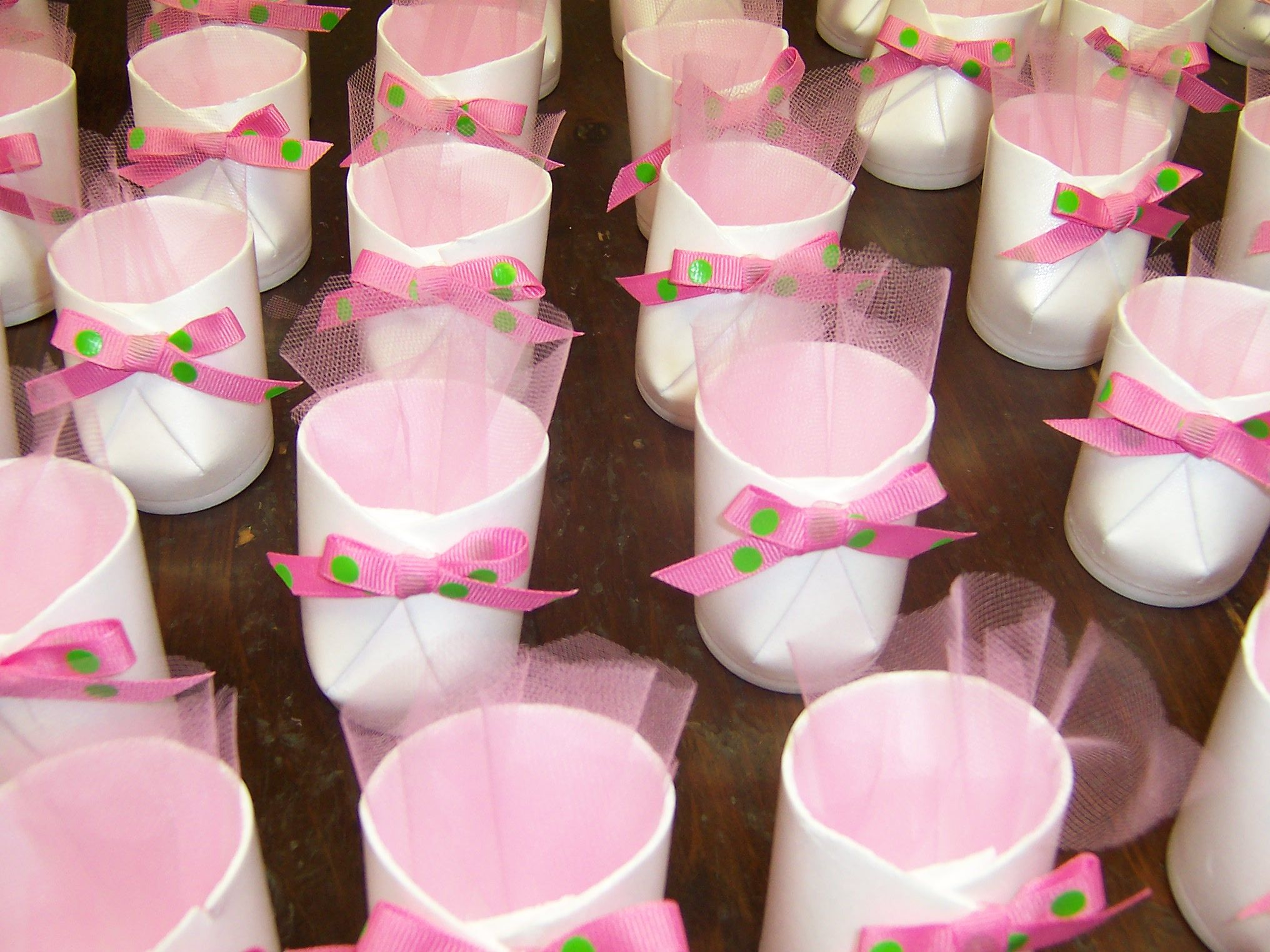Baby Booties Table Favors