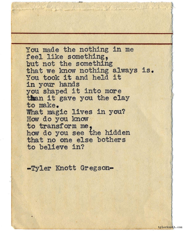 Tyler Knott Typewriter Series 1006 By Tyler Knott Gregson