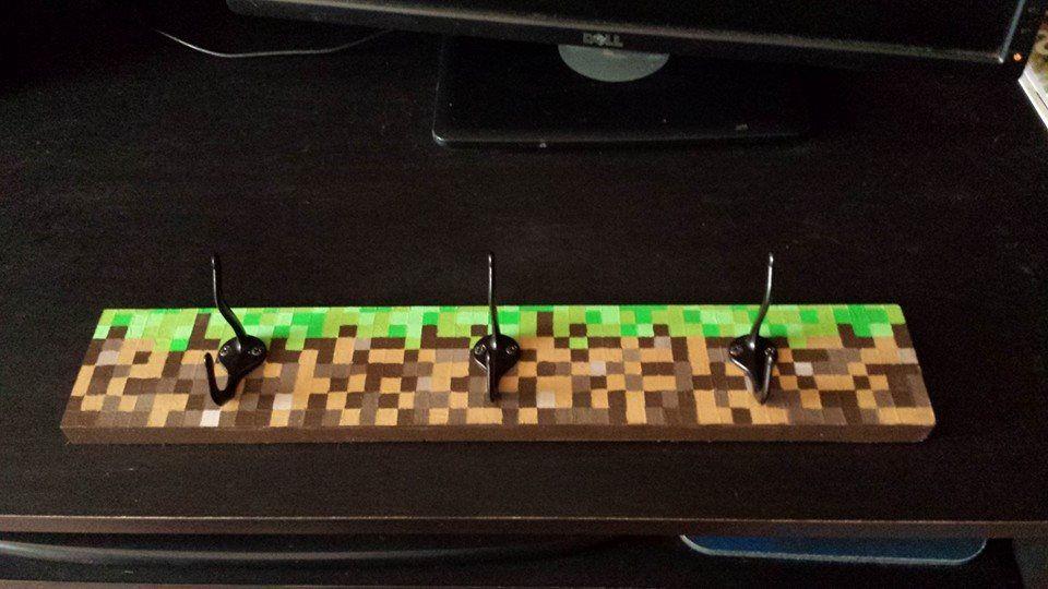 Minecraft wall hooks Bastelideen kinder, Wandhaken