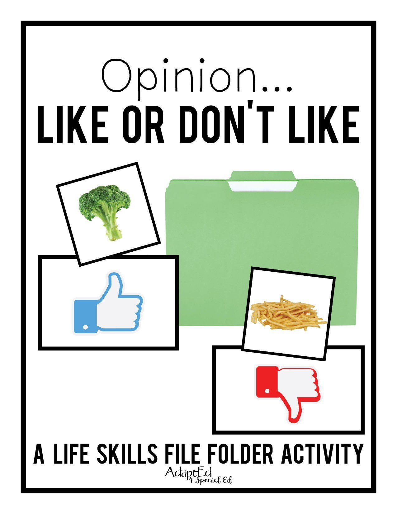 I Like I Don T Like Opinions Adapted Book