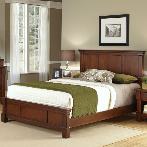 The Aspen Collection Rustic Cherry Queen Bed - Overstock™ Shopping